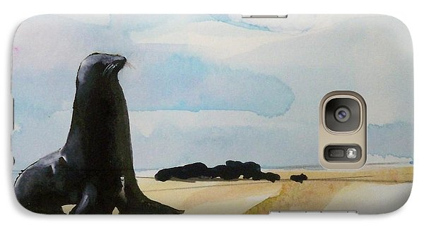 Galaxy Case featuring the painting Seal Rock by Ed  Heaton