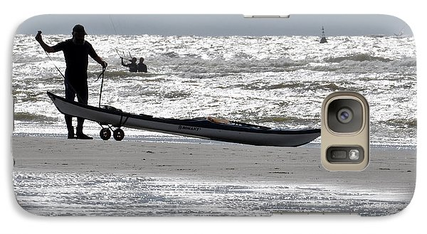 Galaxy Case featuring the photograph Seaman by Simona Ghidini