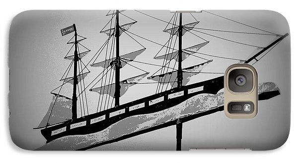 Galaxy Case featuring the photograph Seaman's Bethel Weathervane  by Kathy Barney