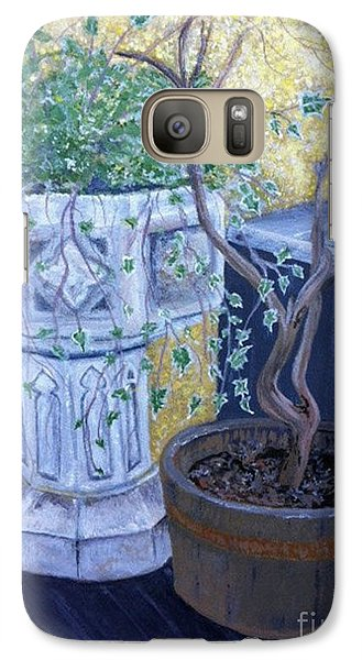 Galaxy Case featuring the painting Sean's Planter by Brenda Brown