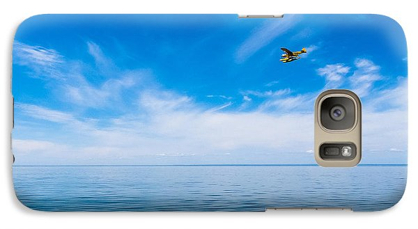 Galaxy Case featuring the photograph Seaplane Over Lake Superior   by Lars Lentz