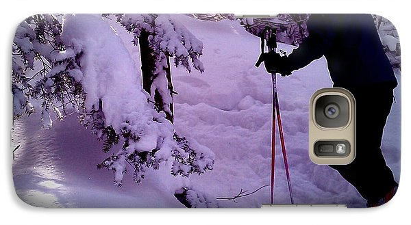 Galaxy Case featuring the photograph Searching For Powder by James Aiken