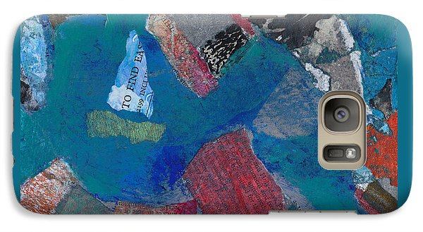 Galaxy Case featuring the mixed media Searching For The Orient by Catherine Redmayne
