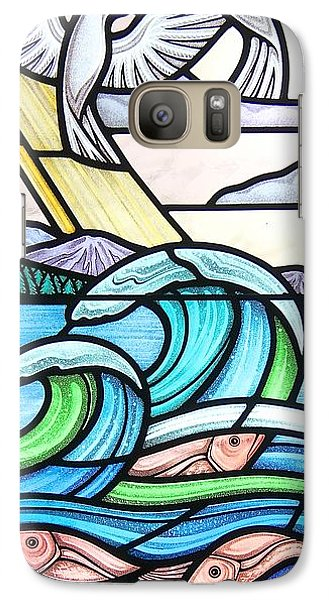 Galaxy Case featuring the glass art Seascape by Gilroy Stained Glass