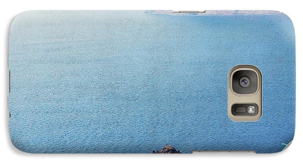 Galaxy Case featuring the photograph Seascape - Santorini by Lisa Parrish