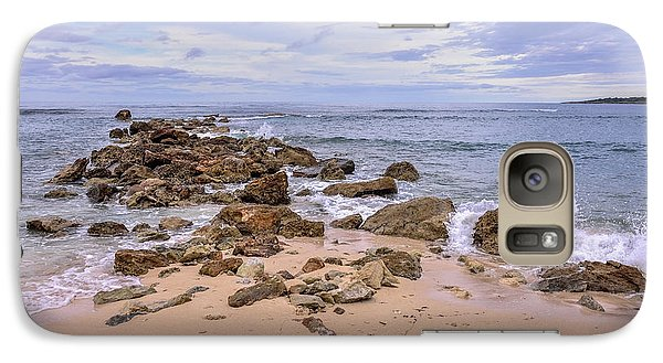 Galaxy Case featuring the photograph Seascape With Rocks by Jola Martysz