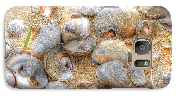 Galaxy Case featuring the photograph Seashell 01 by Donald Williams