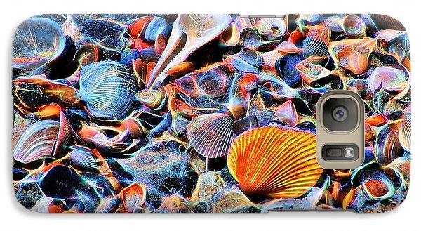 Galaxy Case featuring the photograph Seashells At The Seashore by Ludwig Keck