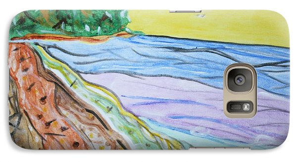 Galaxy Case featuring the painting Seashore Bright Sky by Stormm Bradshaw