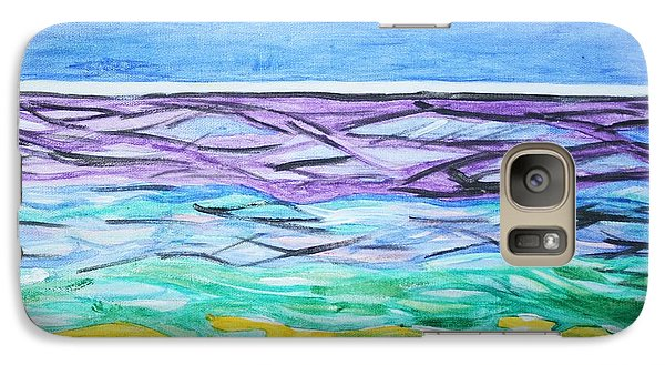 Galaxy Case featuring the painting Seashore Blue Sky by Stormm Bradshaw