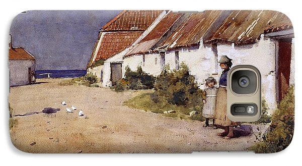 Seaside Cottages With Dovecot Galaxy S7 Case by Edward Arthur Walton