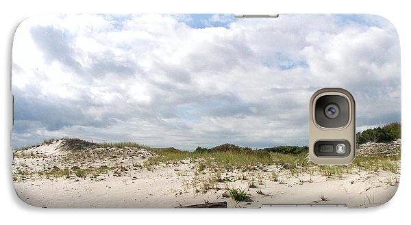 Galaxy Case featuring the photograph Seaside Driftwood And Dunes by Pamela Hyde Wilson