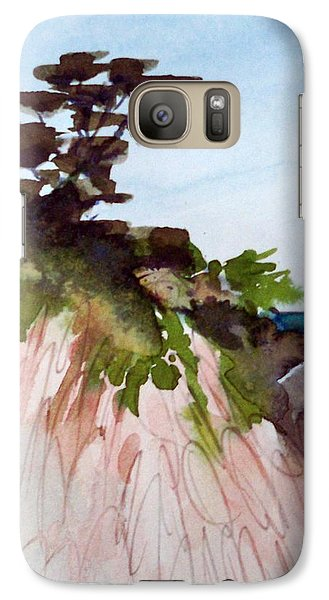 Galaxy Case featuring the painting Seaside by Ed  Heaton