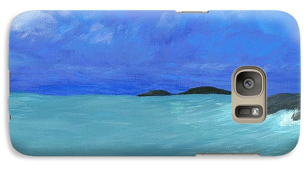 Galaxy Case featuring the painting Seaside by Elizabeth Sullivan