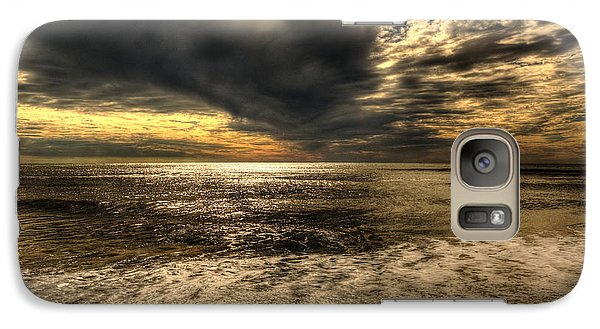 Galaxy Case featuring the photograph Seaside Sundown With Dramatic Sky by Julis Simo