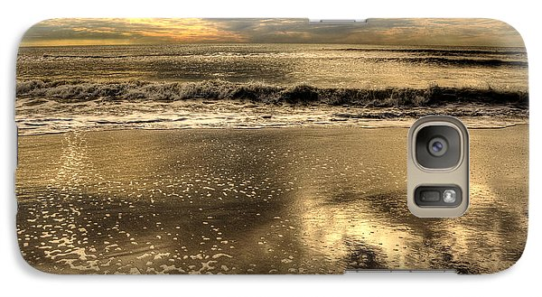 Galaxy Case featuring the photograph Seaside Sunset by Julis Simo