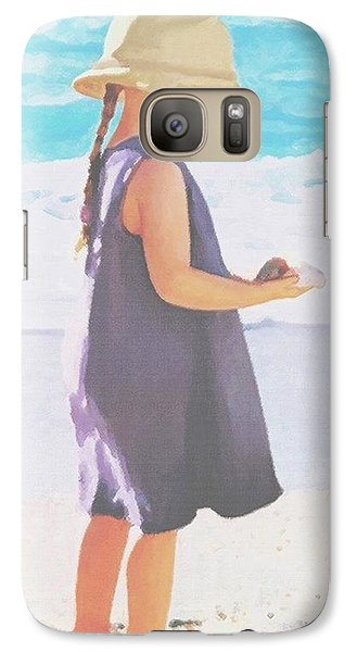 Galaxy Case featuring the painting Seaside Treasures by Sophia Schmierer