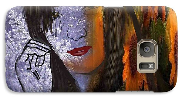 Galaxy Case featuring the digital art Seasonal Duality by Diana Riukas
