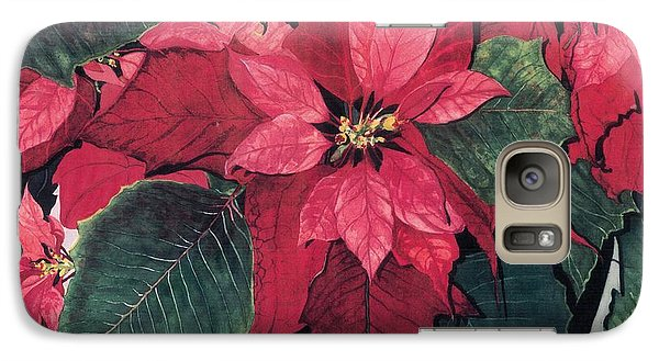 Galaxy Case featuring the painting Seasonal Scarlet 2 by Barbara Jewell