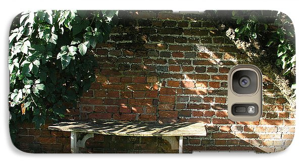 Galaxy Case featuring the photograph Seasoned Bench by Bev Conover
