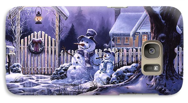 Galaxy Case featuring the painting Season's Greeters by Michael Humphries