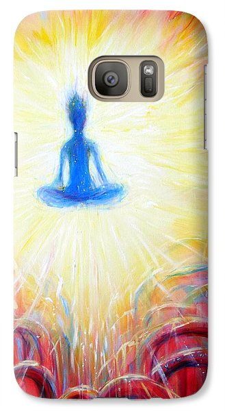 Galaxy Case featuring the painting Seat Of The Soul by Heather Calderon