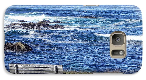 Galaxy Case featuring the photograph Seat With A View by Kathy Churchman