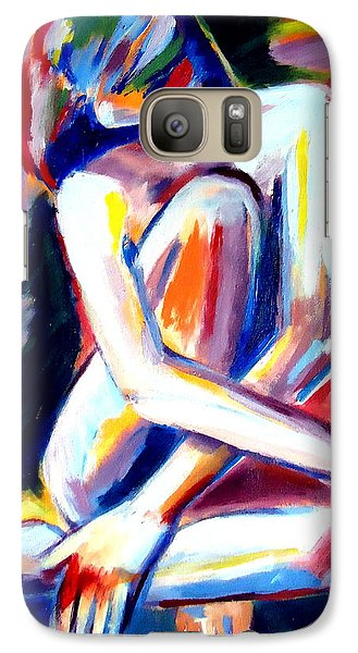 Galaxy Case featuring the painting Seated Lady by Helena Wierzbicki