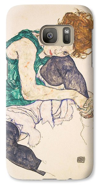 Seated Woman With Legs Drawn Up. Adele Herms Galaxy S7 Case