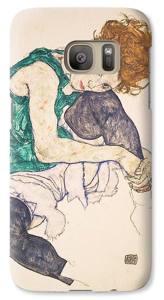 Seated Woman With Legs Drawn Up. Adele Herms Galaxy S7 Case by Egon Schiele