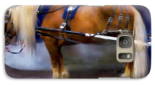 Galaxy Case featuring the digital art Seattle Carriage Horse by Kari Nanstad