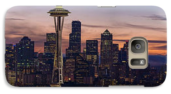 Seattle Cityscape Morning Light Galaxy S7 Case by Mike Reid