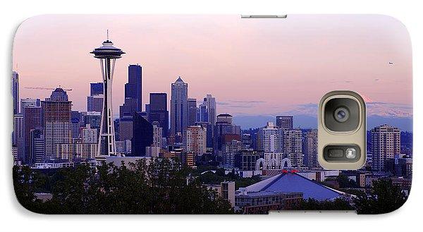 Seattle Dawning Galaxy Case by Chad Dutson