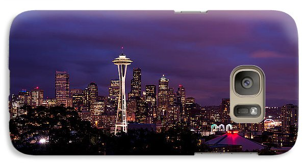 Seattle Night Galaxy S7 Case by Chad Dutson