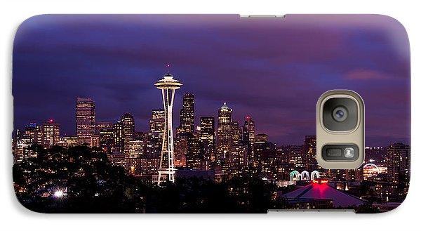 Seattle Night Galaxy Case by Chad Dutson