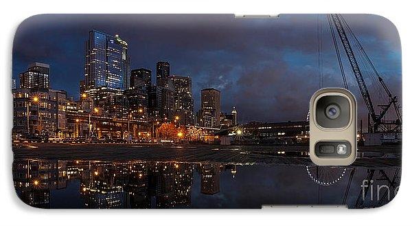 Seattle Night Skyline Galaxy S7 Case by Mike Reid