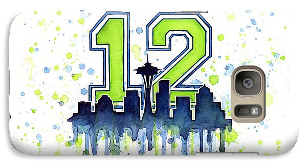 Sports Galaxy S7 Case - Seattle Seahawks 12th Man Art by Olga Shvartsur