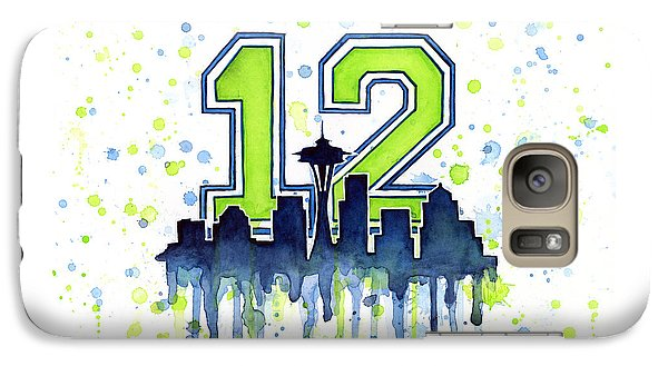 Seattle Seahawks 12th Man Art Galaxy Case by Olga Shvartsur