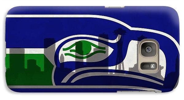 Seattle Seahawks On Seattle Skyline Galaxy S7 Case