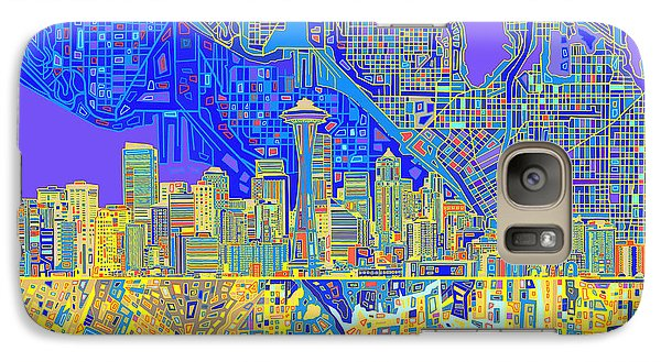 Seattle Skyline Abstract 6 Galaxy S7 Case