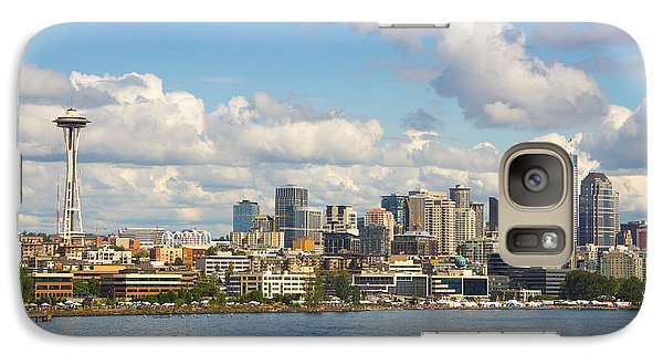 Galaxy Case featuring the photograph Seattle Skyline by Janis Knight