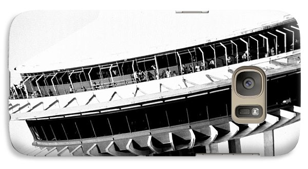 Galaxy Case featuring the photograph Seattle Space Needle Close Up by Amy Giacomelli