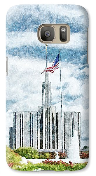 Galaxy Case featuring the painting Seattle Temple 1 by Greg Collins