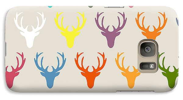Seaview Simple Deer Heads Galaxy Case by Sharon Turner
