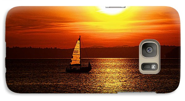 Galaxy Case featuring the photograph Seaview Sunset by Jerry Cahill