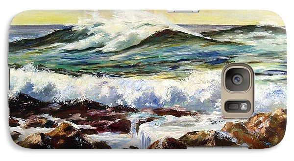 Galaxy Case featuring the painting Seawall by Lee Piper