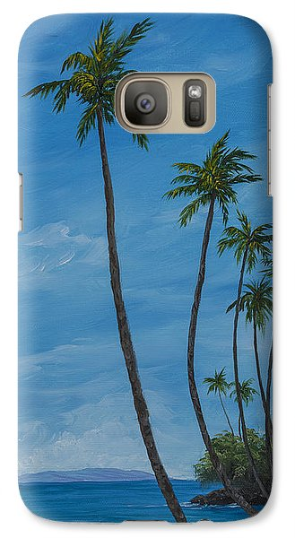Galaxy Case featuring the painting Seawall Palms by Darice Machel McGuire