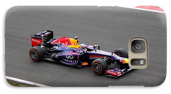 Galaxy Case featuring the photograph Sebastian Vettel by David Grant