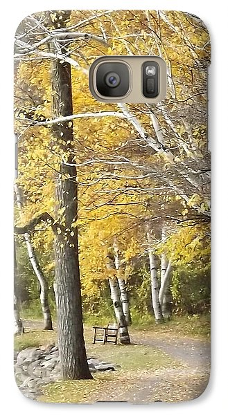 Galaxy Case featuring the photograph Secluded Lake Road by Bill Woodstock