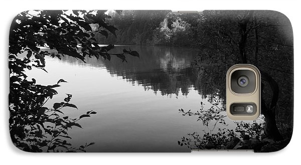 Galaxy Case featuring the photograph Second Lake Padden Reflection In Black And White  by Karen Molenaar Terrell